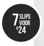 7 Slips voor €24 bij Hunkemöller
