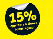 15% extra Appstore en iTunes tegoed
