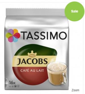 Tassimo - Jacobs Café au Lait 16 kopjes voor €3,89