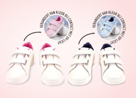 Kinder UV licht sneakers voor €9,99