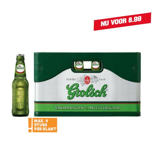Krat Grolsch of Jupiler nu voor €8,99