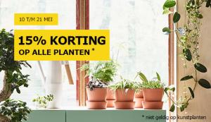 Alle planten 15% korting