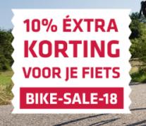 Code voor 10% korting op fietsproducten