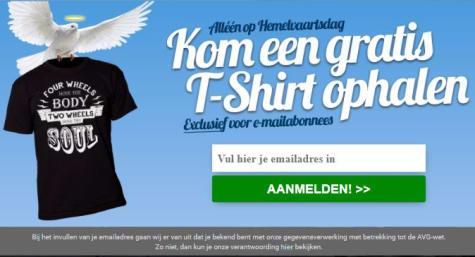 Op Hemelvaartsdag bij MotoZoom Gratis T-shirt