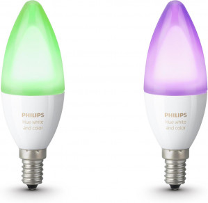 Philips Hue - Nieuw: White and Color Ambiance - E14 - duopack voor €87,60