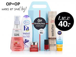 Bij Etos cadeau sparen beautybox Gratis