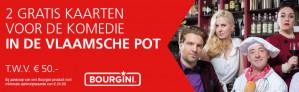 2 kaarten gratis voor 'de vlaamsche pot' bij Marskramer bij aankoop van een Bourgini product