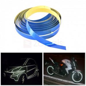 1 cm x 5 m reflecterende tape voor o.a. auto -Motor of fiets  voor €0,48 dmv code