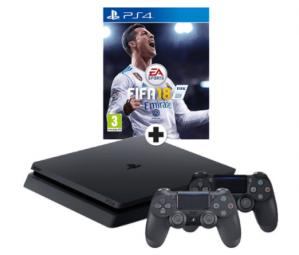 Sony PlayStation 4 (PS4 Slim) 500TGB  met 1 Draadloze Spelpad - Gitzwart voor €279
