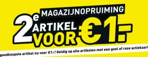 2e artikel voor €1 bij Scapino dit geldt ook op de sale