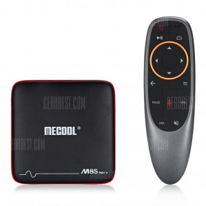 Mecool M8S PRO W 2.4G with Andriod TV OS Support TV Box - BLACK EU PLUG ( 2.4G VOICE CONTROL ) voor €33,05