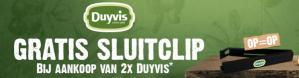 Duyvis sluitclip bij aankoop van 2 producten GRATIS