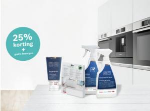 Kortingscode voor 25% korting op geselecteerde Bosch ovenreinigingsproducten