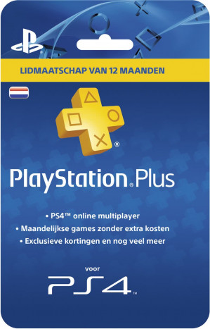 Nederlands Sony PlayStation Plus Abonnement 365 Dagen voor €44,99