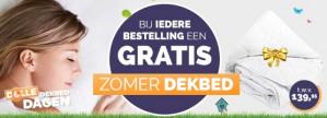 Gratis zomer dekbed twv 139,95 euro bij aankoop van een dekbed vanaf €14,95 (ex €5,95 verzendkosten)