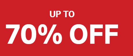 Sale tot 70% korting +10% korting