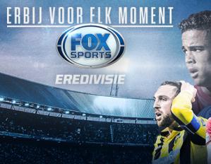 Live FOX Sports Eredivisiewedstrijden voor 100 airmiles