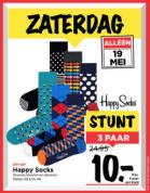 Happy socks 3 paar voor €10