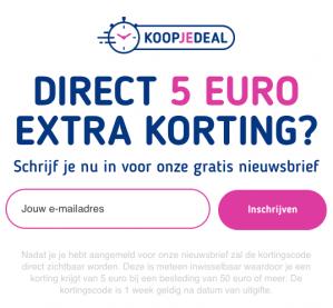 5 euro korting bij koopjedeal