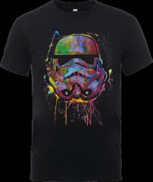 Star Wars Verfspetters Stormtrooper T-shirt - Zwart voor €10,99