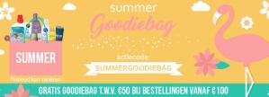 Gratis goodiebag twv €50 bij je bestelling