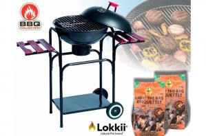 Verrijdbare Stalen Barbecue - Winter BBQ voor €20,92 dmv code