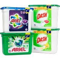 Ariel of dash pods (12 stuks) 3 voor €5