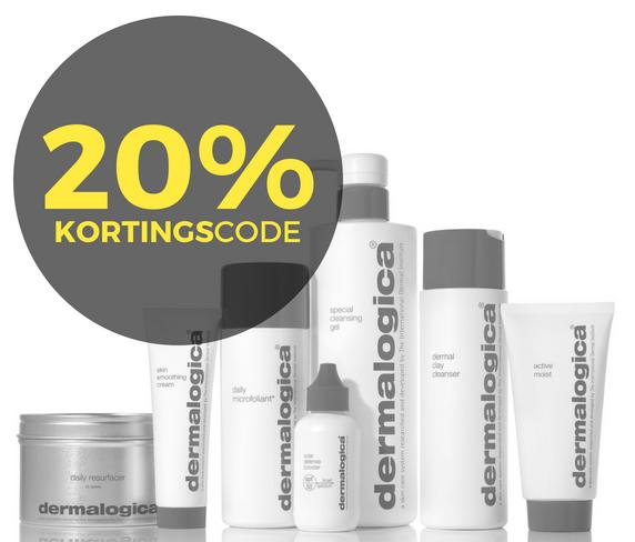 20% korting op Dermalogica