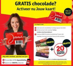 Bij activering van Kruidvat voordeelkaart Gratis chocolade