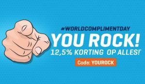 Code voor 12,5% korting op alles