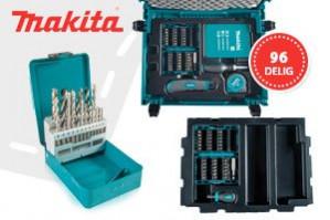 Makita B-49725 96 delige boor- en bitset in Mbox voor €39,95