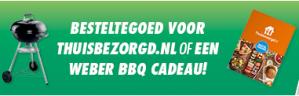 Gratis Thuisbezorgd tegoed of Weber BBQ bij diverse actieproducten