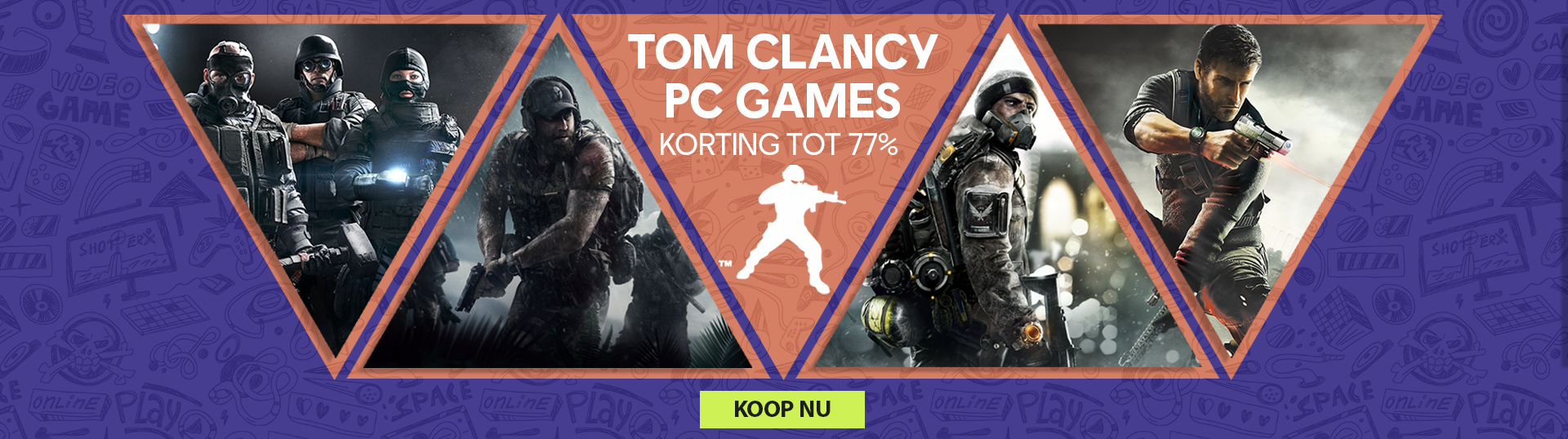 Diverse Tom Clancy games tot 77% korting