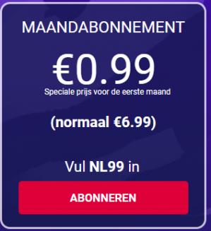Eurosport Player Maandabonnement voor €0,99 dmv code