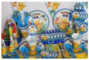 Pokemon 130 stuks verjaardag benodigdheden voor €18,57