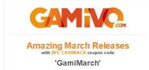 20% cashback bij Gamivo dmv code