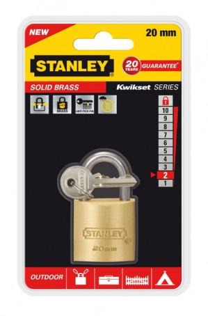 Stanley - Solid Brass, hangslot , 20 mm voor €3,02