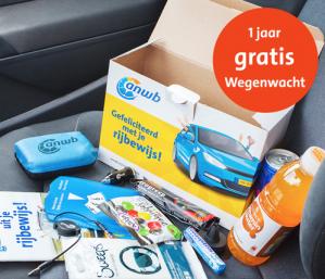 Gratis ANWB Rijbewijsbox met verschillende producten inclusief 1-jaar Wegenwacht Service