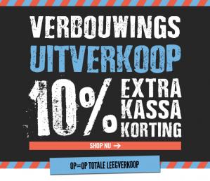 10% extra korting op alles
