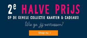 Hallmark cadeau/kaart 2e halve prijs