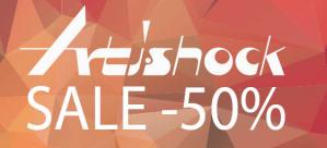 Artishock sale met 50% korting op de herfst / wintercollectie 2017