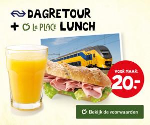 Dagretour + Lunch bij La Place voor €20