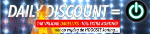 Daily Discount met 10% extra korting op de sale bij Jouwveilingen.nl