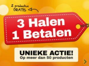 Geselecteerde producten 3 halen = 1 betalen bij Holland&Barret