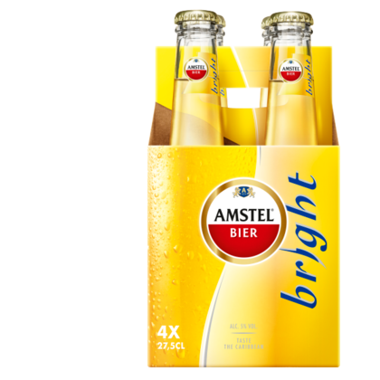 Amstel Bright 4 flesjes voor €1,99