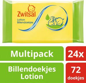 1+1 gratis op Zwitsal billendoekjes (2x12 pack)