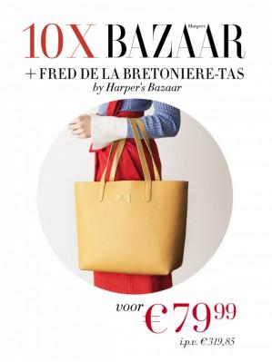 10 x het blad Harper's BAZAAR met Fred de la Bretoniere-tas voor €79,99