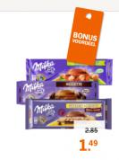 Milka repen Alle varianten 2 tabletten voor €1,49