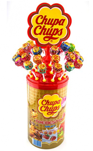 Chupa Chups 200 lolly's met stand voor €13,56
