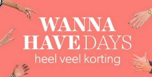 Wehkamp Wannahaves Days met kortingen tot  70%